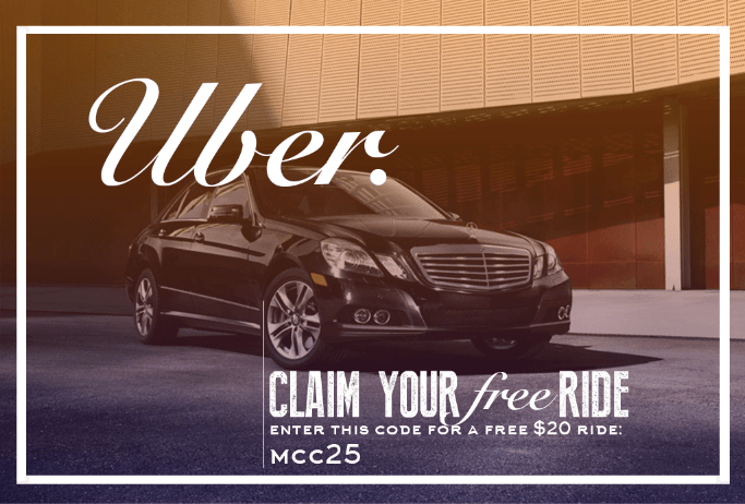 Claim your free Uber ride with Uber promo code - mcc25