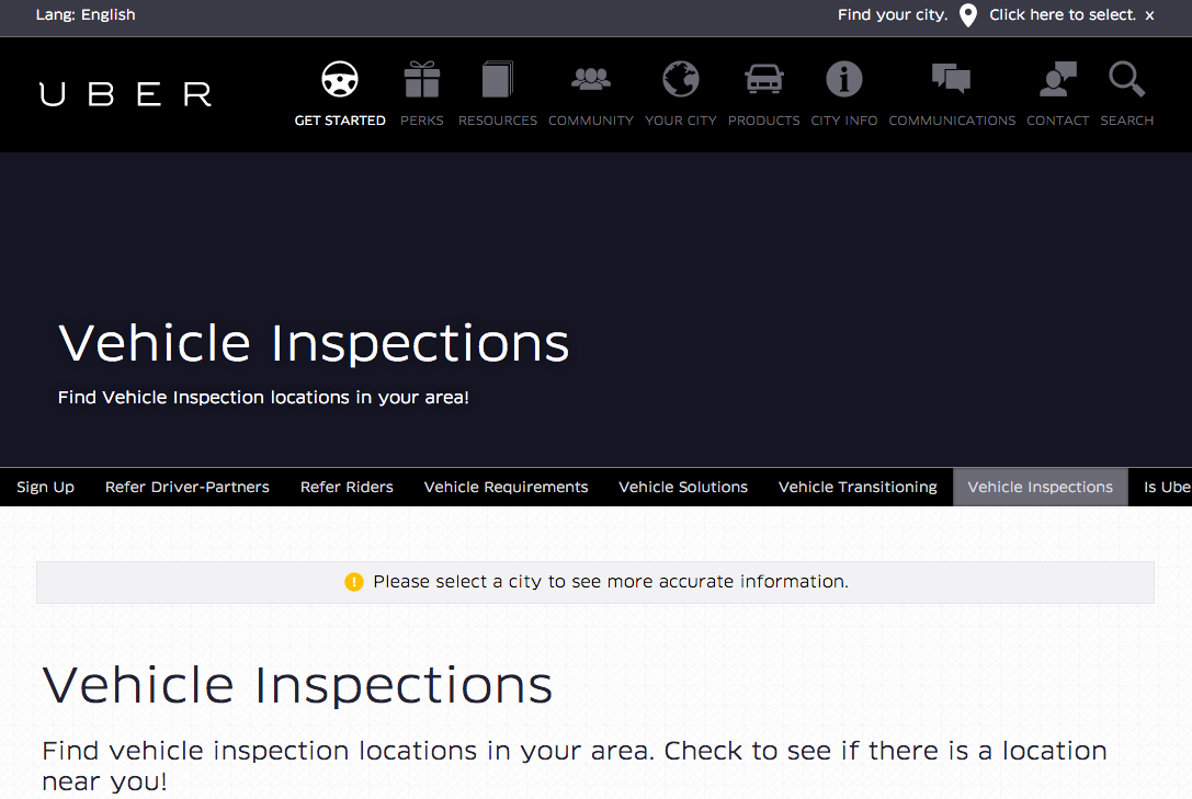 Uber car inspection i drive with uber for Nearest motor vehicle inspection station