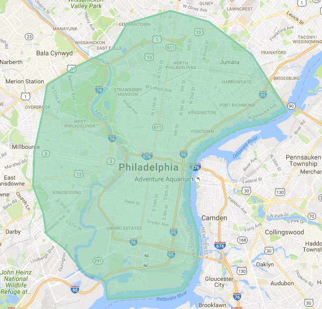 UberEATS Philly Coverage Area1