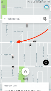 blue dot uber location services
