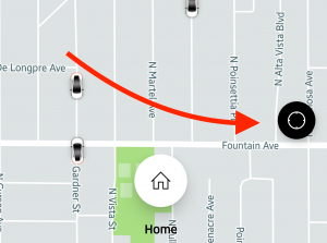 Center the Uber map on your location
