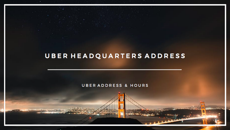 uber headquarters address - greenlight address