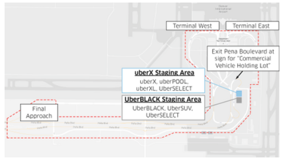 uber denver airport staging area 2017 uber denver international airport guide drop off pickup guide uber staging area