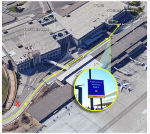 uber minneapolis st paul airport terminal 2 pickup zone msp 2017 airport