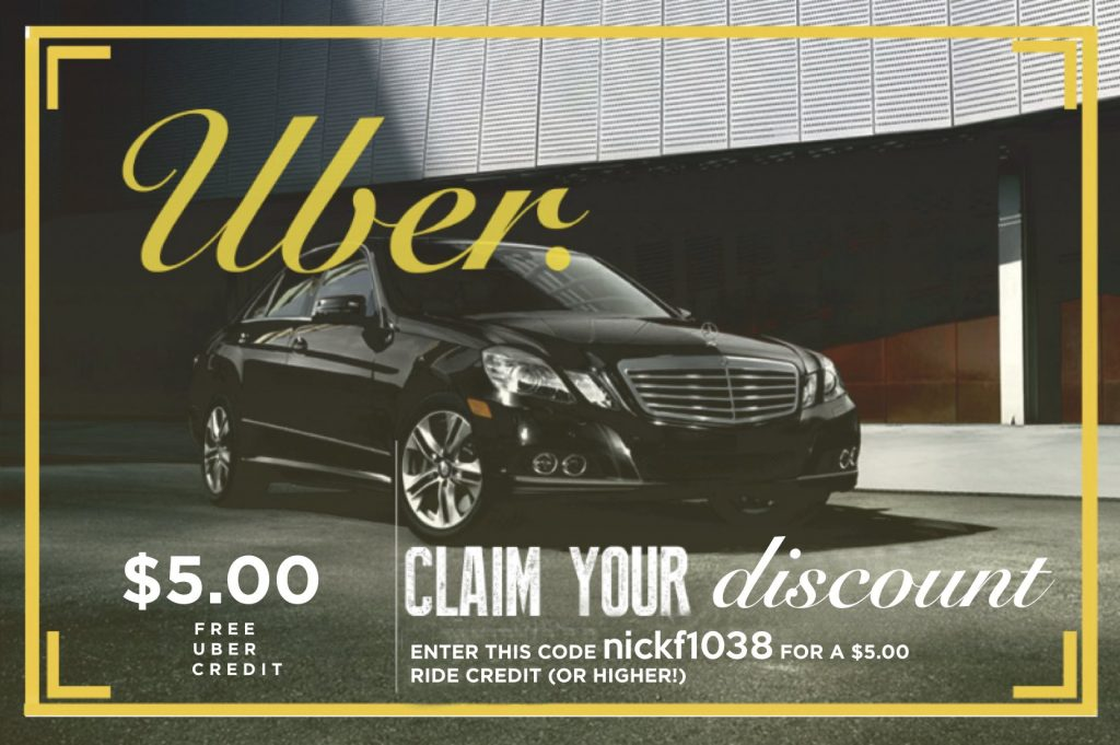 Claim your free Uber ride with Uber promo code - nickf1038